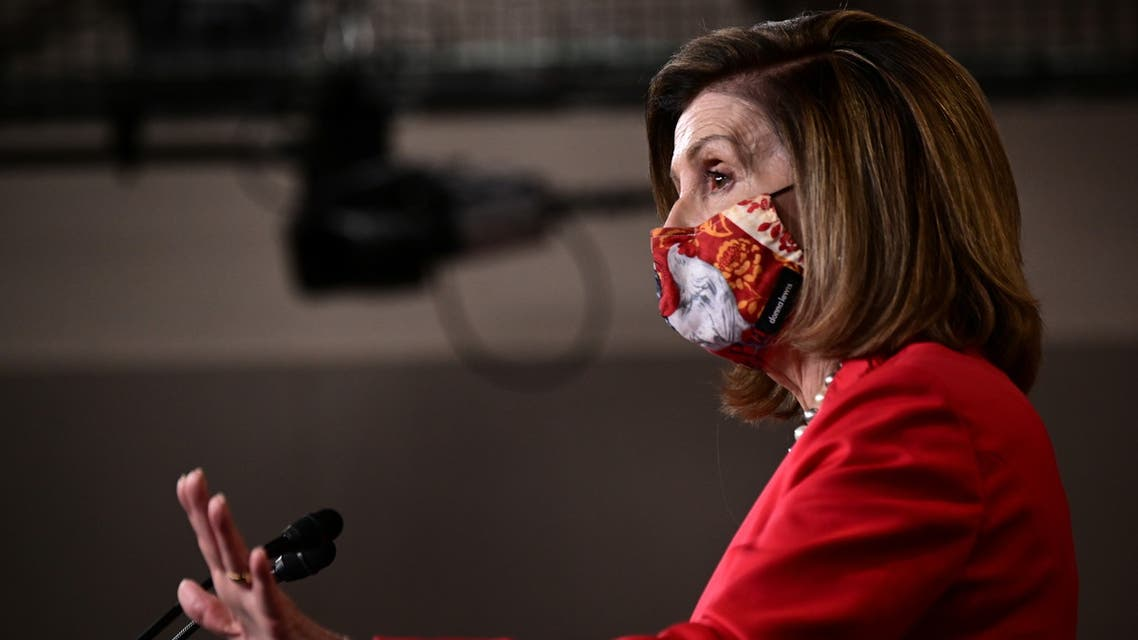 U.S. House of Representatives Speaker Nancy Pelosi holds a news conference at the U.S. Capitol following the 2020 U.S. presidential election in Washington, U.S., November 6, 2020. REUTERS/Erin Scott