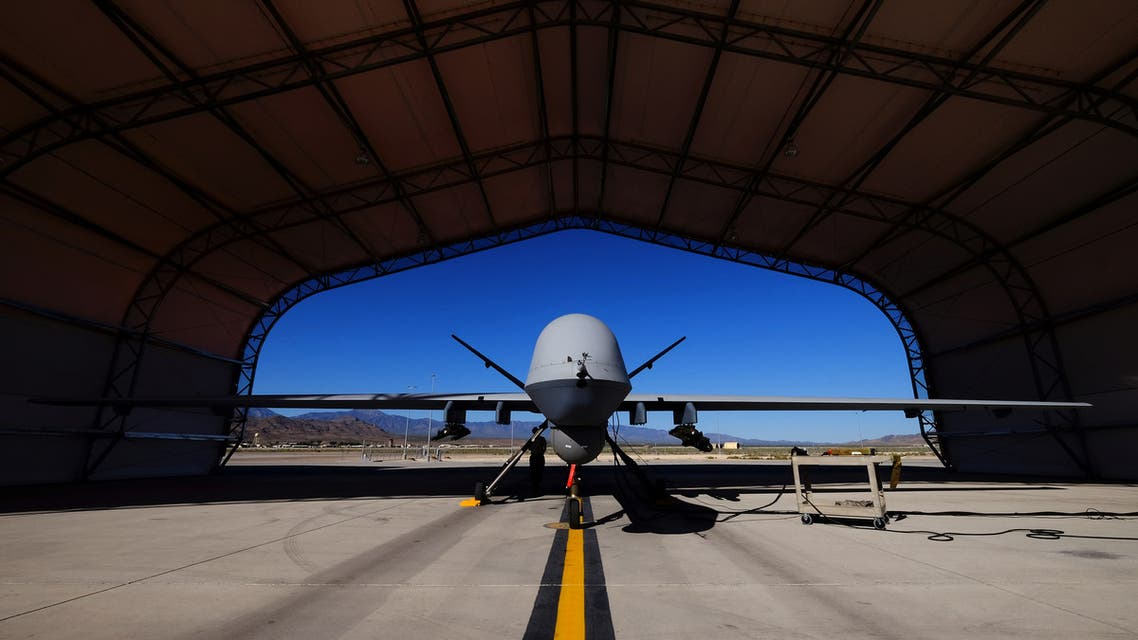 A US Air Force MQ-9 Reaper drone sits in a hanger at Creech Air Force Base May 19, 2016. (Reuters)