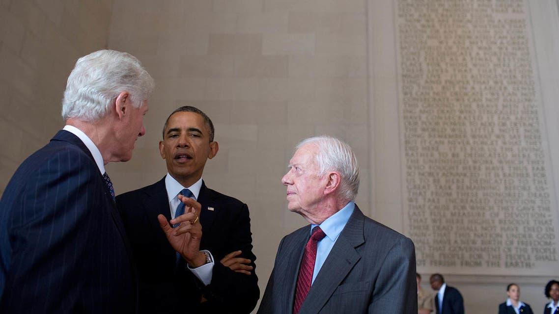 كارتر واوباما وكلينتون