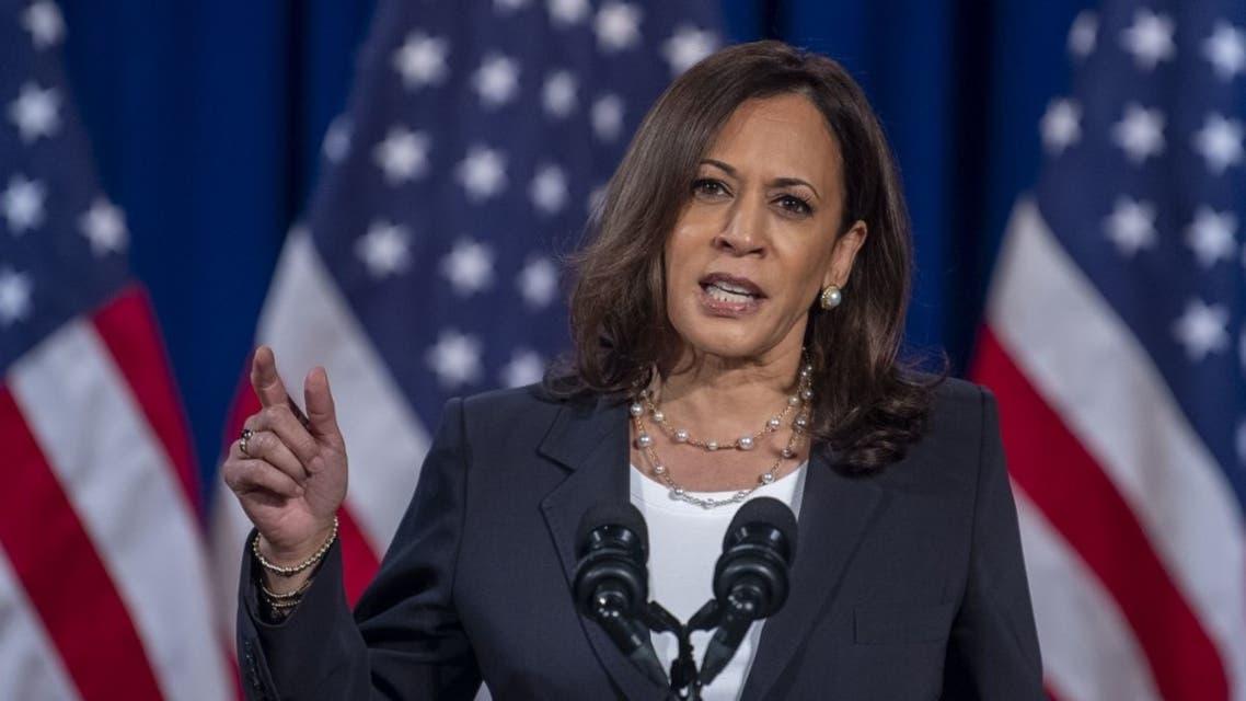US Democratic vice presidential nominee and Senator from California, Kamala Harris, speaks in Washington, DC. (File photo: AFP)