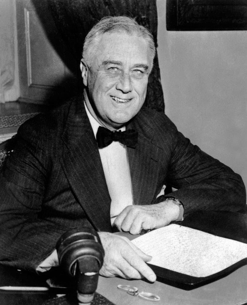 صورة للرئيس الأميركي فرانكلين روزفلت