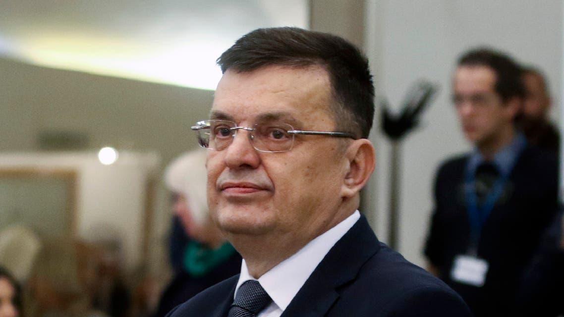 Zoran Tegeltija, new head of the Council of Ministers, attends the Bosnian parliament in Sarajevo, Bosnia, Thursday, Dec. 5, 2019. (AP)