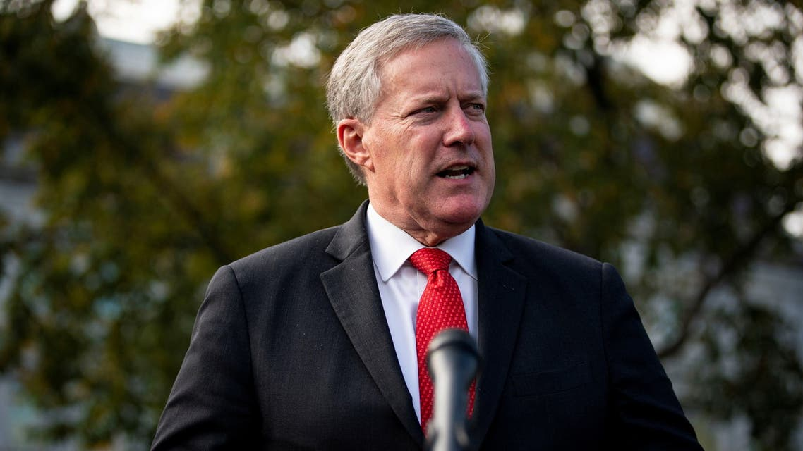 White House Chief of Staff Mark Meadows in Washington. (Reuters)