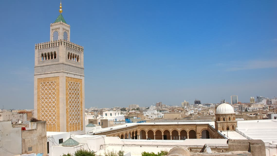 Zaytouna Mosque with a general view of Tunis in the background. (File photo)