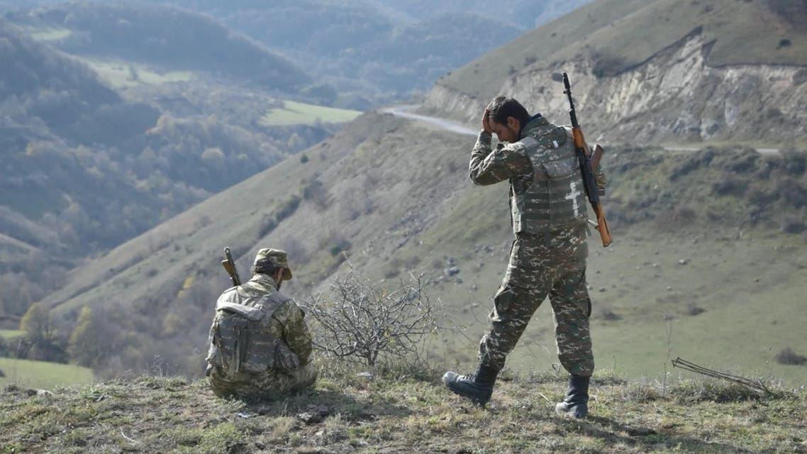 قوات أرمينية في شوشة