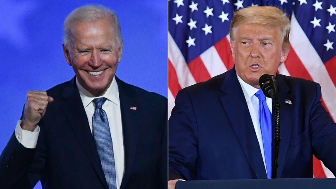 Democratic presidential nominee Joe Biden and US President Donald Trump. (AFP)