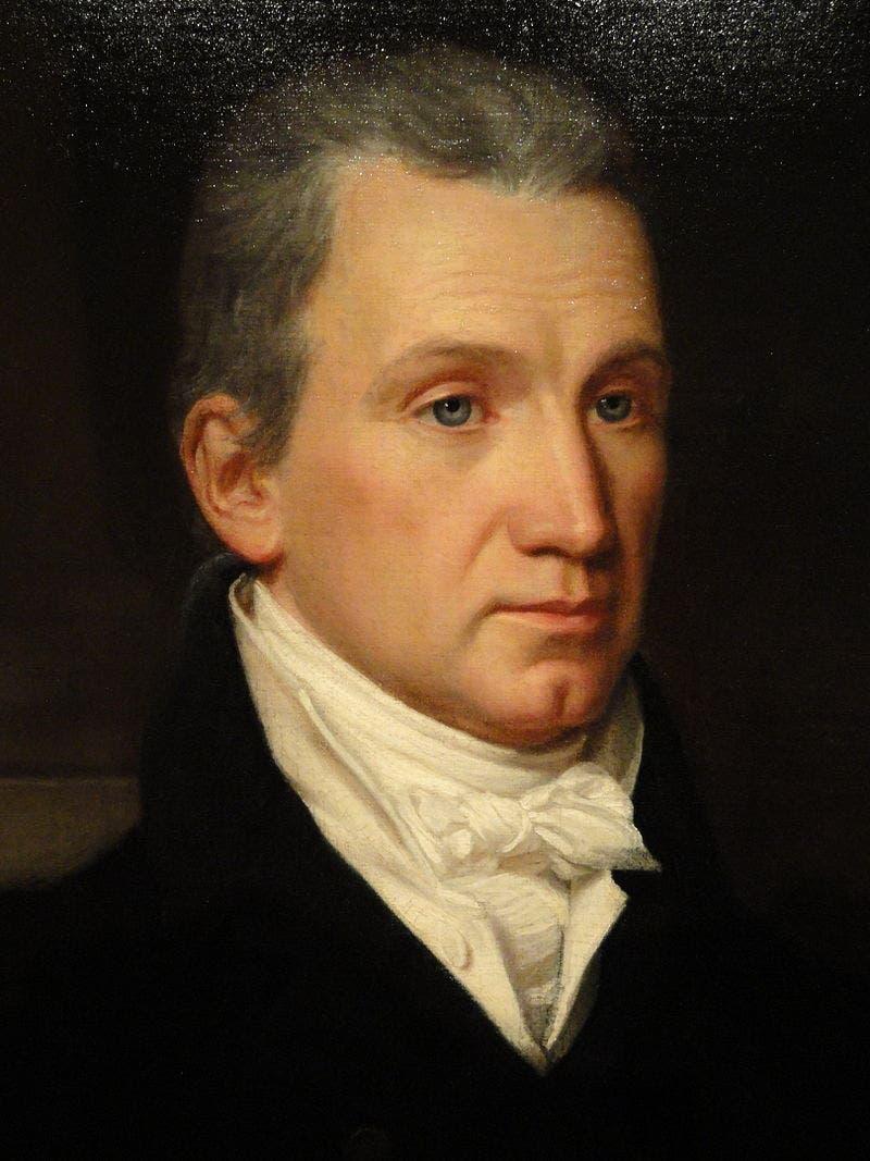 لوحة تجسد شخصية جيمس مونرو