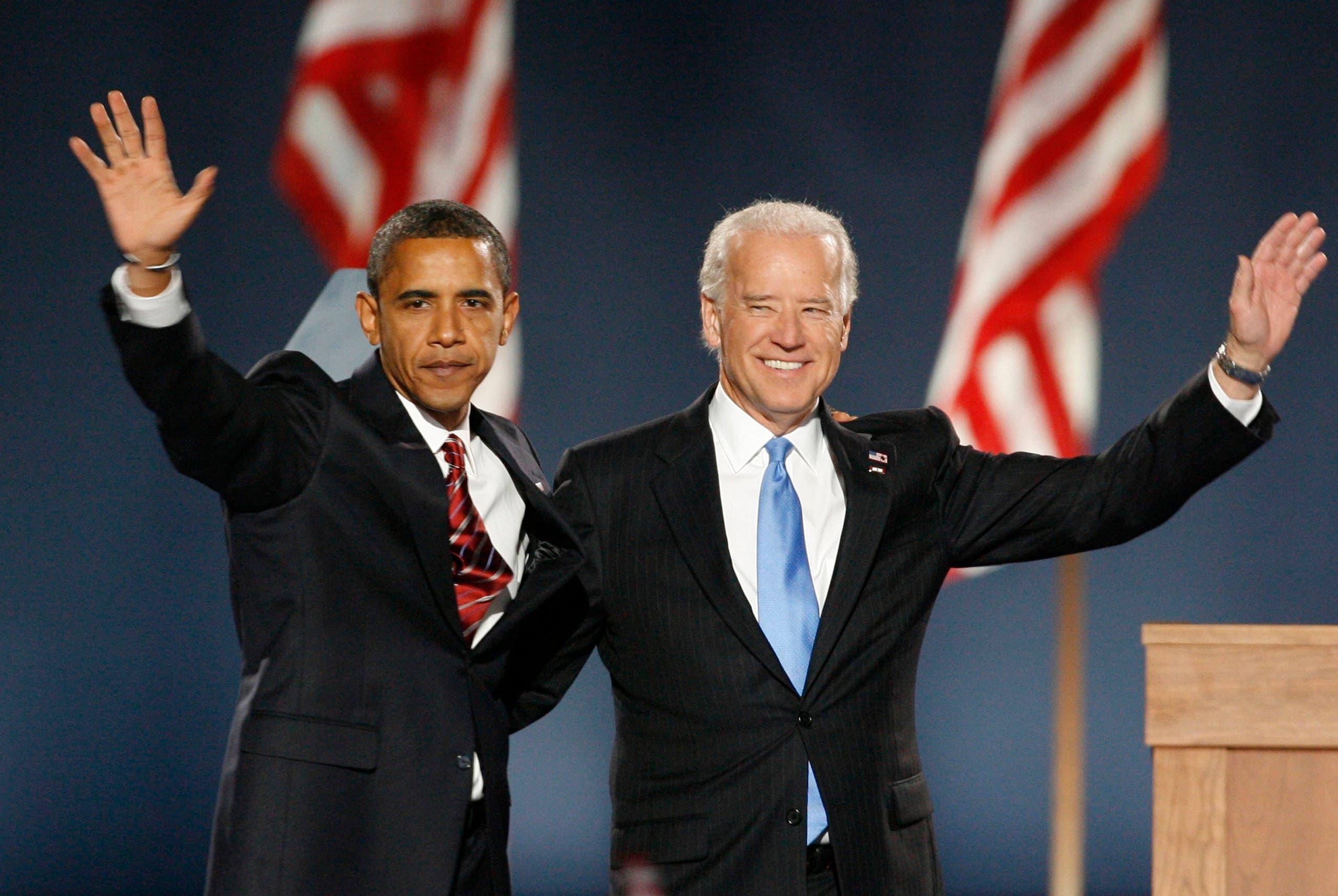 بايدن وأوباما عام 2008