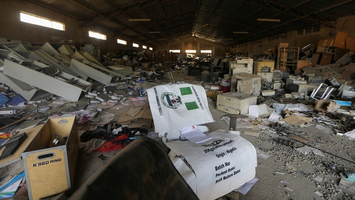 Damaged goods are pictured after the looting of NEMA warehouse in Abuja. (Reuters)