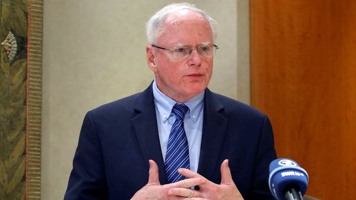 James Jeffrey, Special Representative for Syria, after a meeting with senior officials from seven Arab and Western countries in Switzerland Oct. 25, 2019. (Reuters)