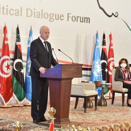رئيس تونس يحذر من تقسيم ليبيا..