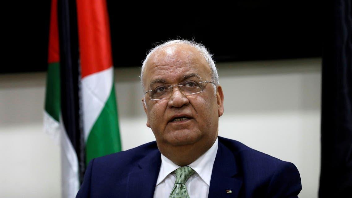 Chief Palestinian negotiator Saeb Erekat. (Reuetrs)