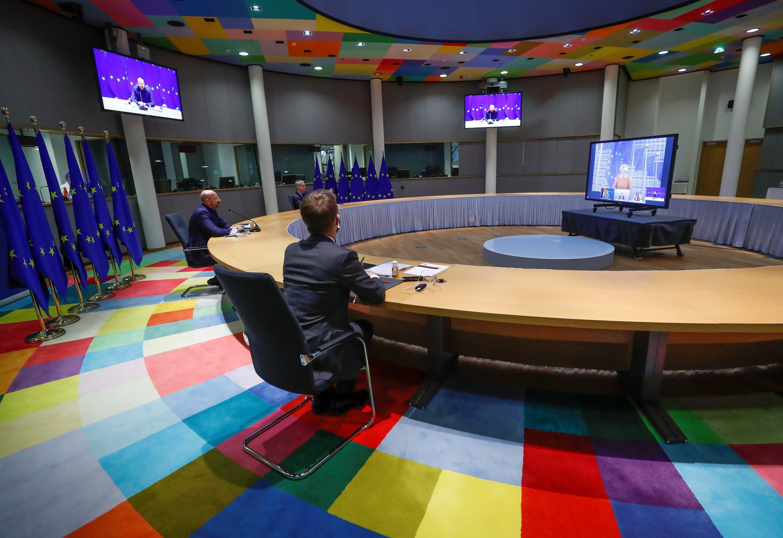 رئيس المجلس الأوروبي شارل ميشيل يشارك في القمة من مقر المفوضية الأوروبية