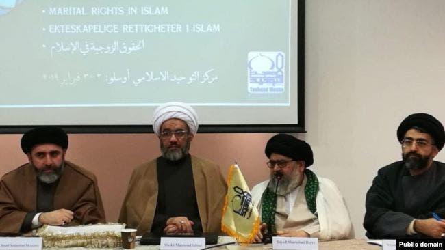 مطهري في جلسة لمركز توحيد الاسلامي الايراني في النرويج