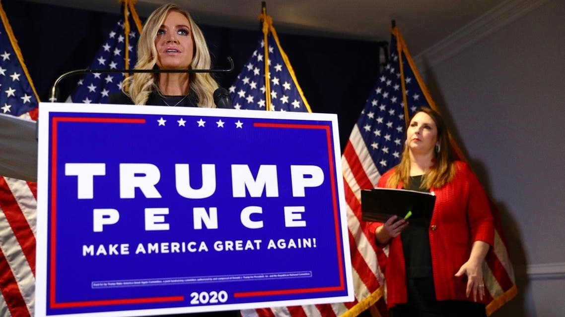 White House Press Secretary Kayleigh McEnany discusses Trump campaign plans to pursue legal challenges to the 2020 US presidential election results, Nov. 9, 2020. (Reuters)