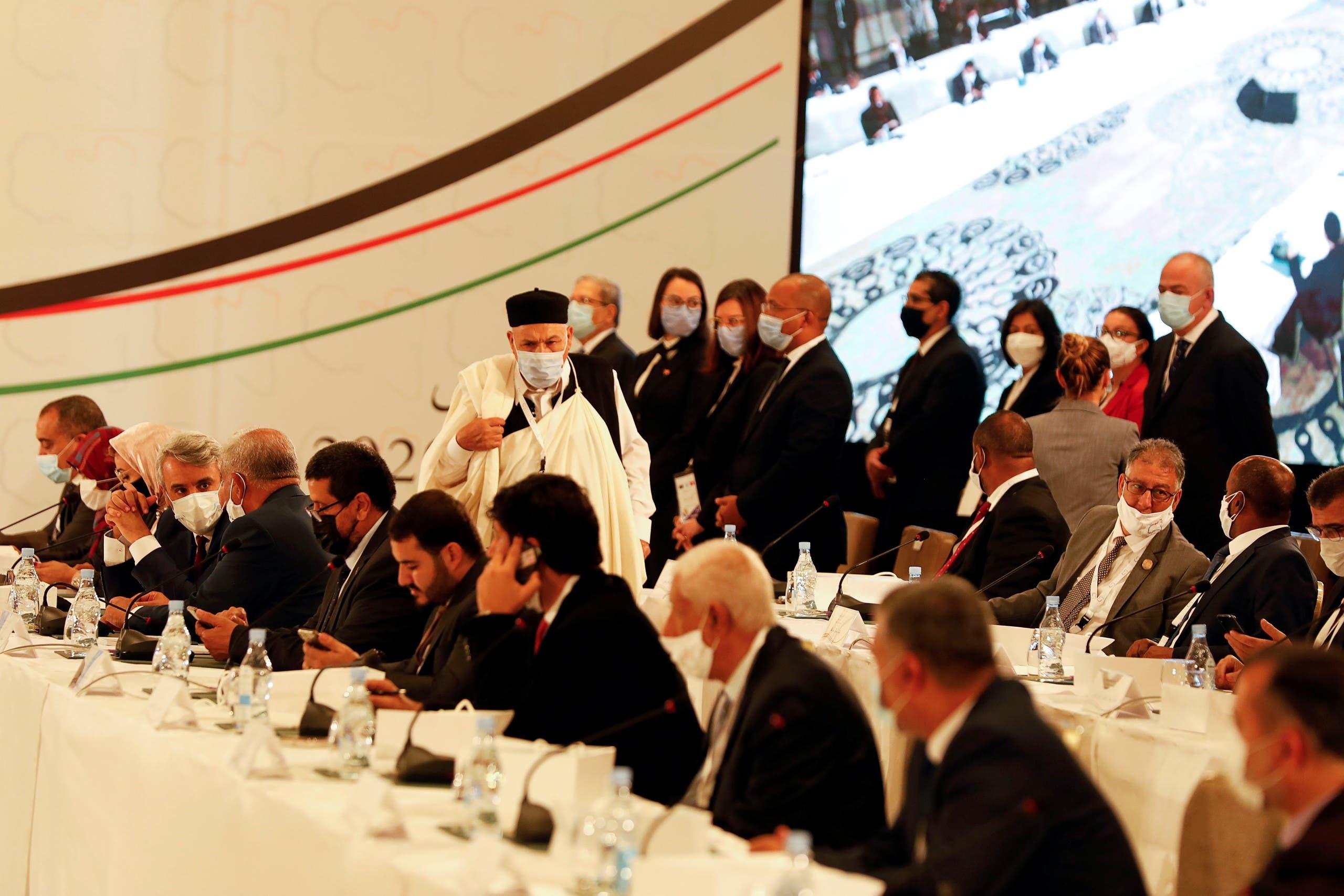 من انطلاق الحوار السياسي الليبي في تونس الشهر الماضي (أرشيفية)