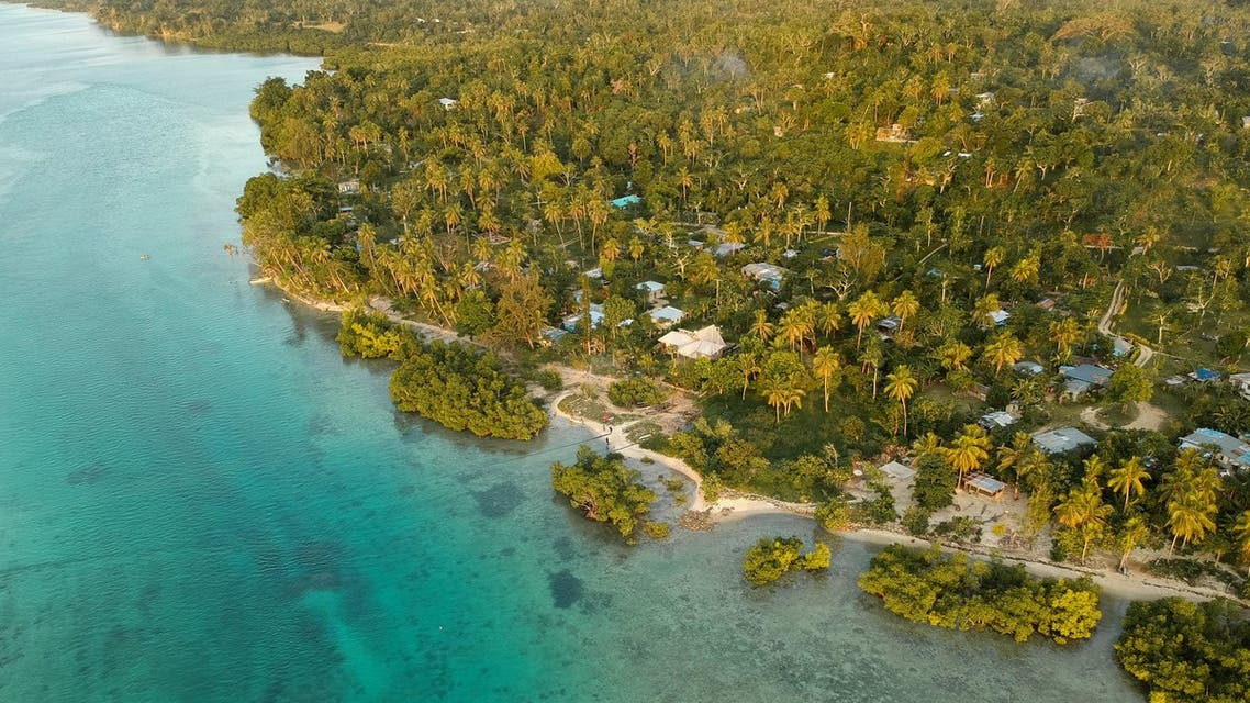 Aerial view of Vanuatu island, where only one case of COVID-19 has been recorded. (Unsplash)