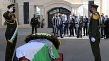 جنازة عسكرية لصائب عريقات في مراسم رسمية