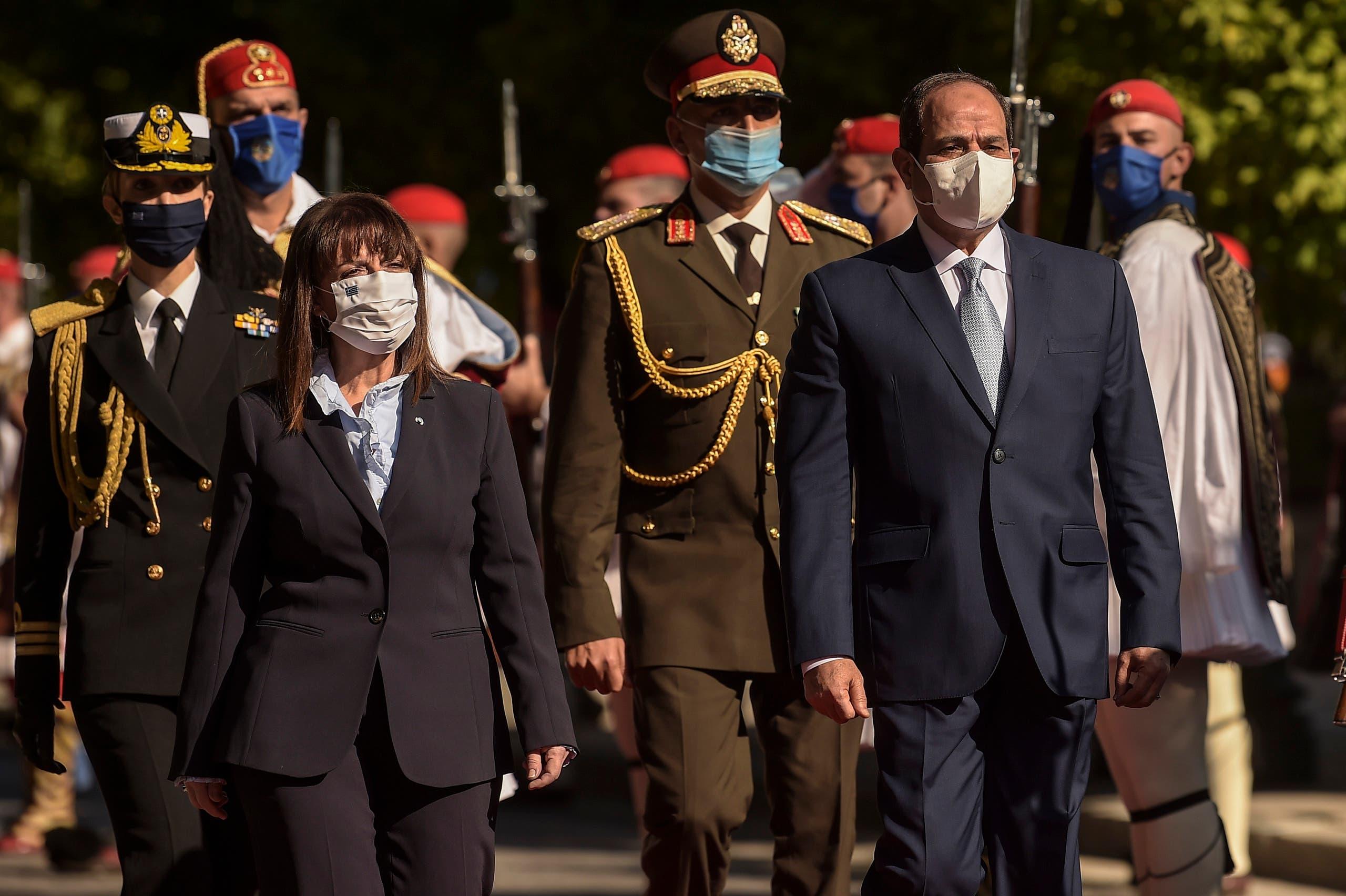 من الاستقبال الرسمي للرئيس المصري في اليونان