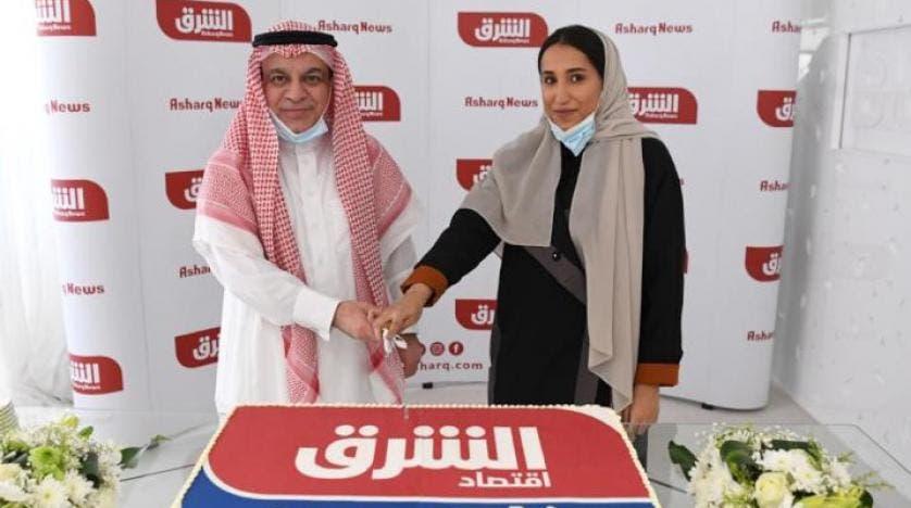المهندس عبد الرحمن إبراهيم الرويتع رئيس مجلس إدارة المجموعة السعودية للأبحاث والتسويق وجمانا راشد الراشد الرئيسة التنفيذية للمجموعة السعودية للأبحاث والتسويق