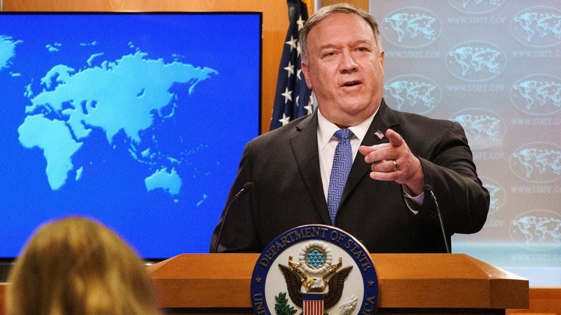 US Secretary of State Mike Pompeo during a briefing to the media at the State Department in Nov. 10, 2020. (Reuters)