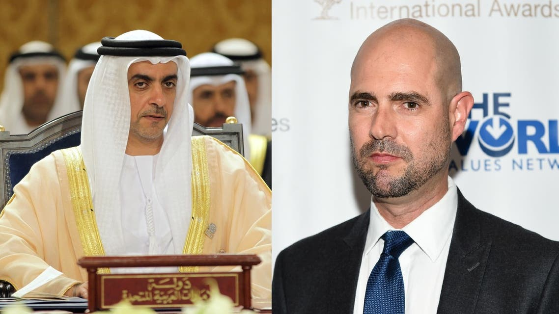 UAE's Saif bin Zayed Al Nahyan, left, and Israeli Interior Minister Amir Ohana. (AP)