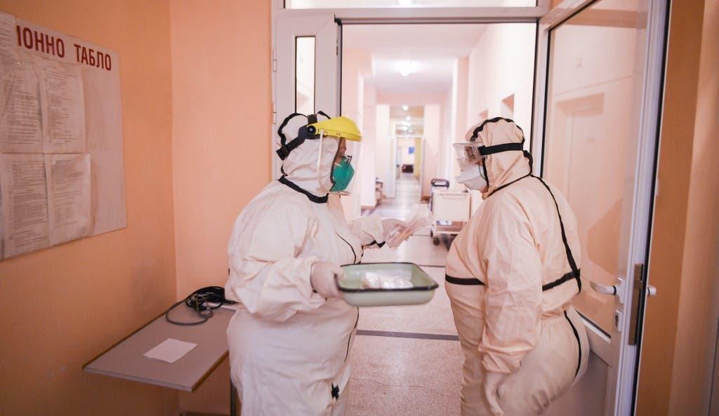 كورونا من أحد مستشفيات بلغاريا - فرانس برس