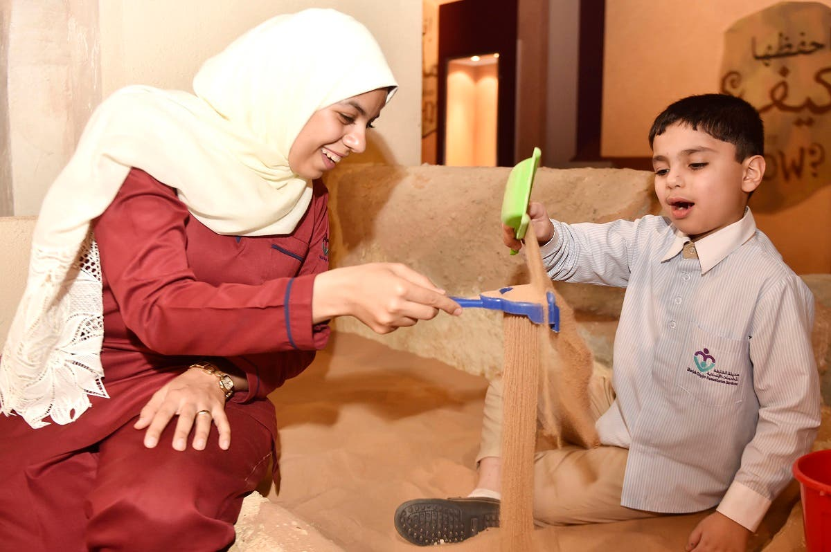 Excavation workshop for autistic children at a Sharjah museum. (Courtesy: SMA)