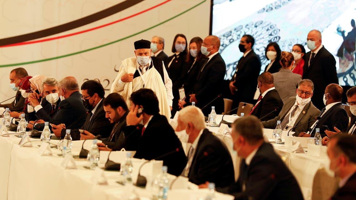 من ملتقى  الحوار السياسي الليبي في تونس(أرشيفية- رويترز)