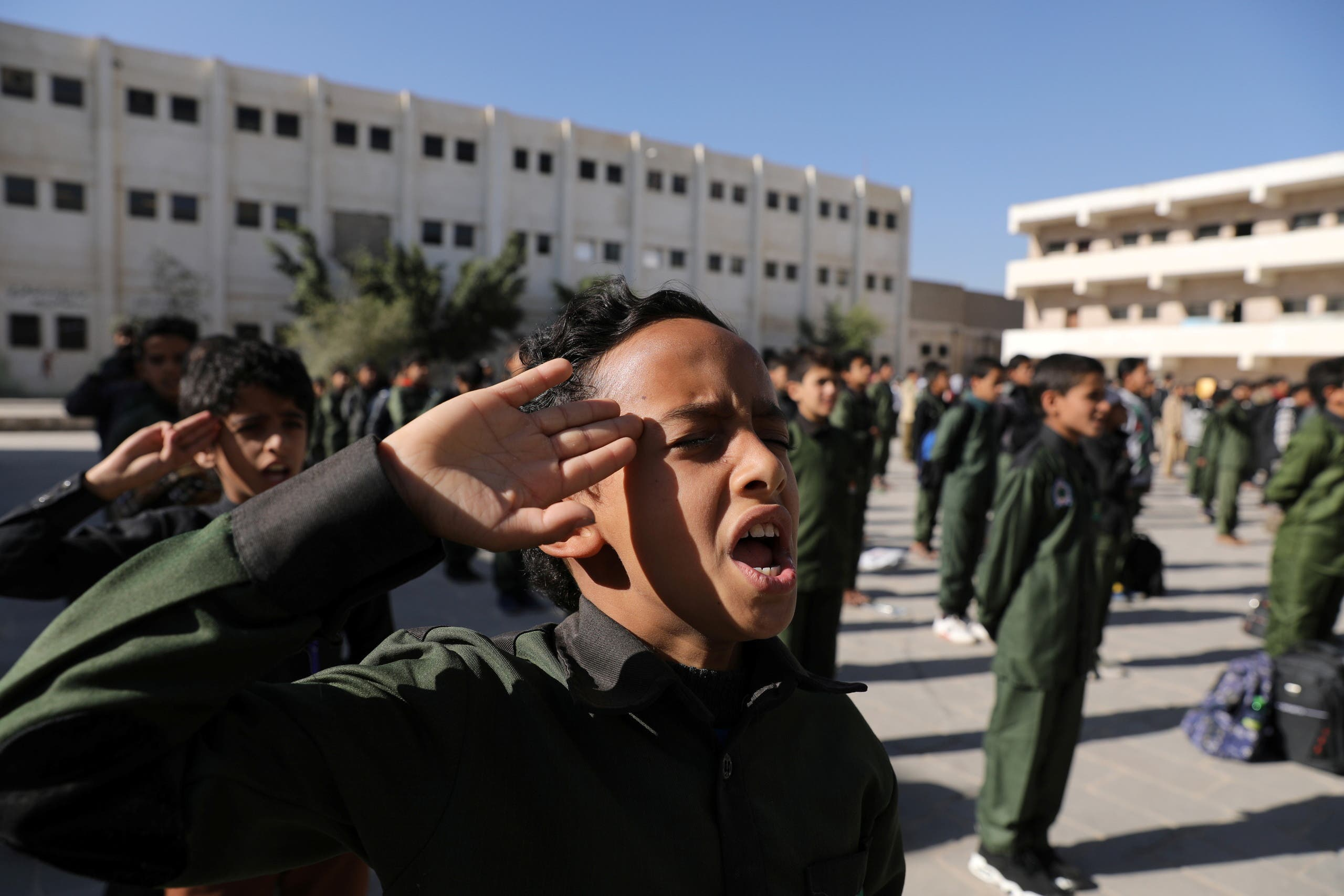 تلاميذ مدارس في صنعاء (أرشيفية- رويترز)