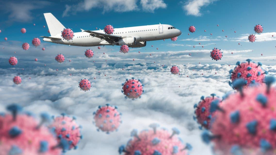 كورونا والطائرة تعبيرية ( istock)