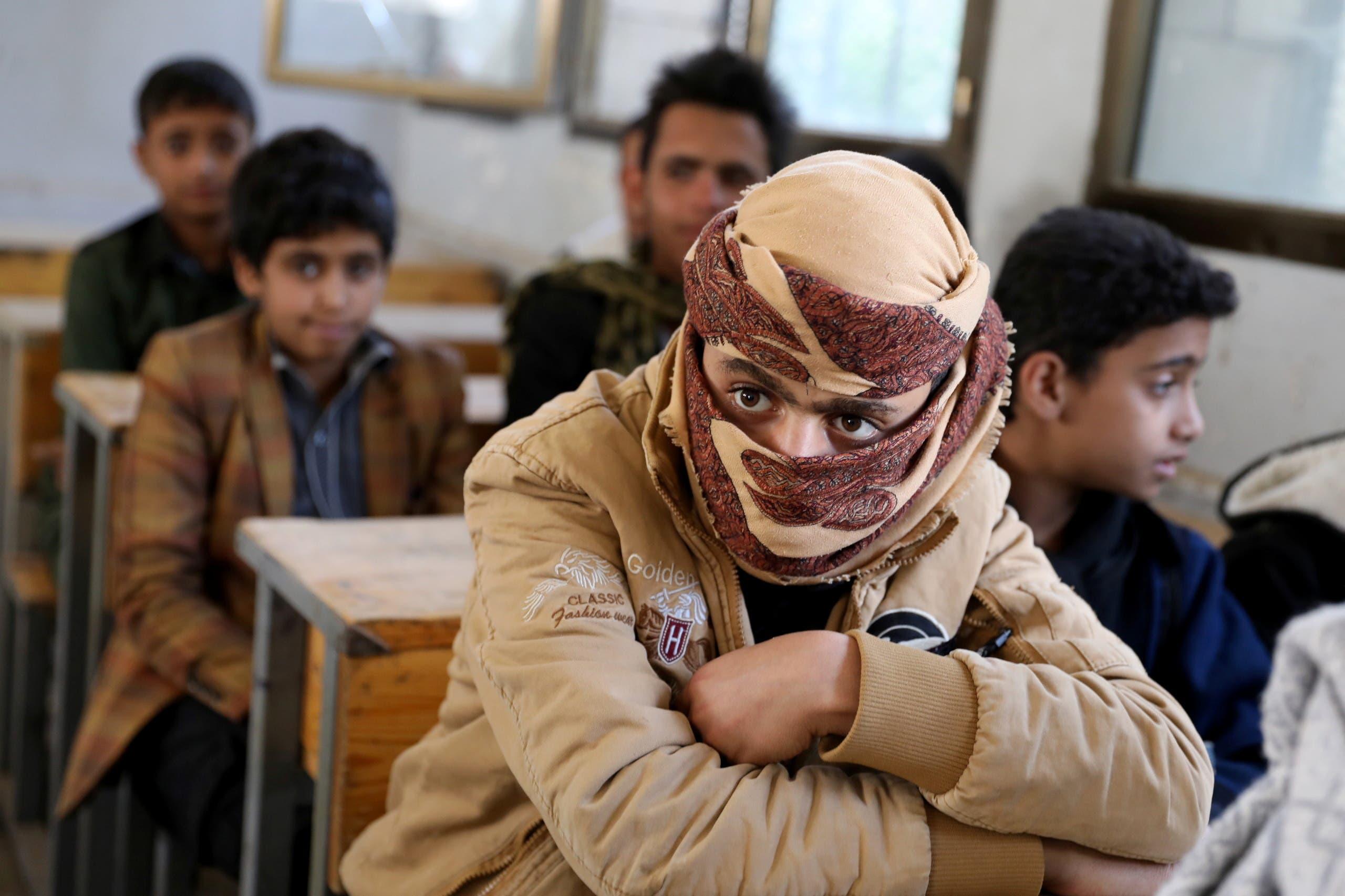 تلاميذ مدارس في صنعاء (رويترز)