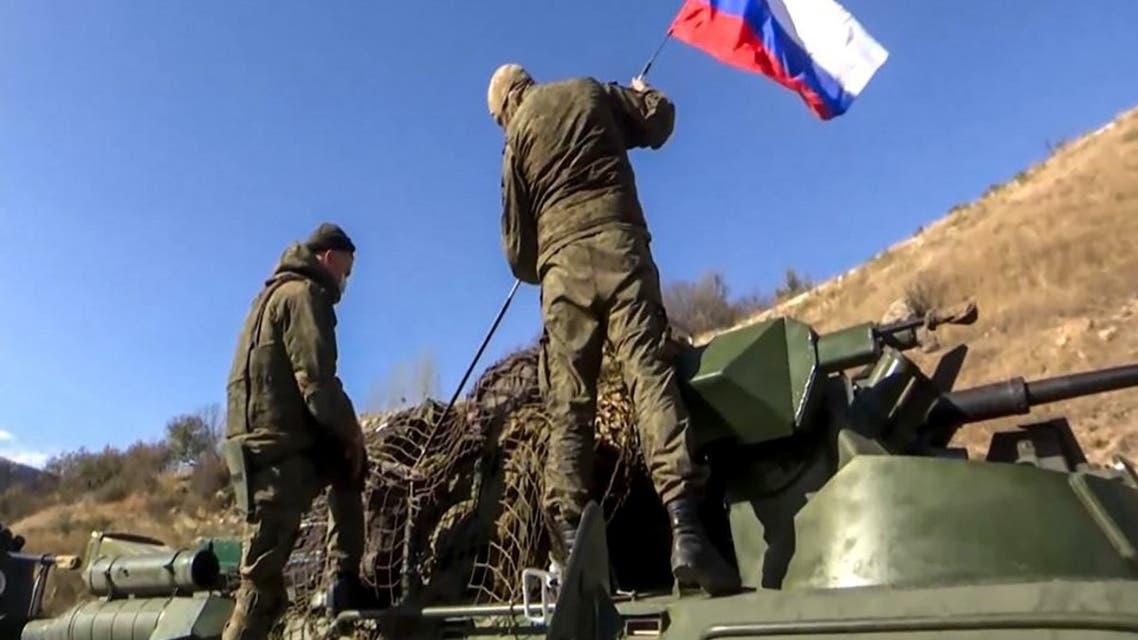 قوات روسية في كاراباخ 13 نوفمبر 2020 - فرانس برس