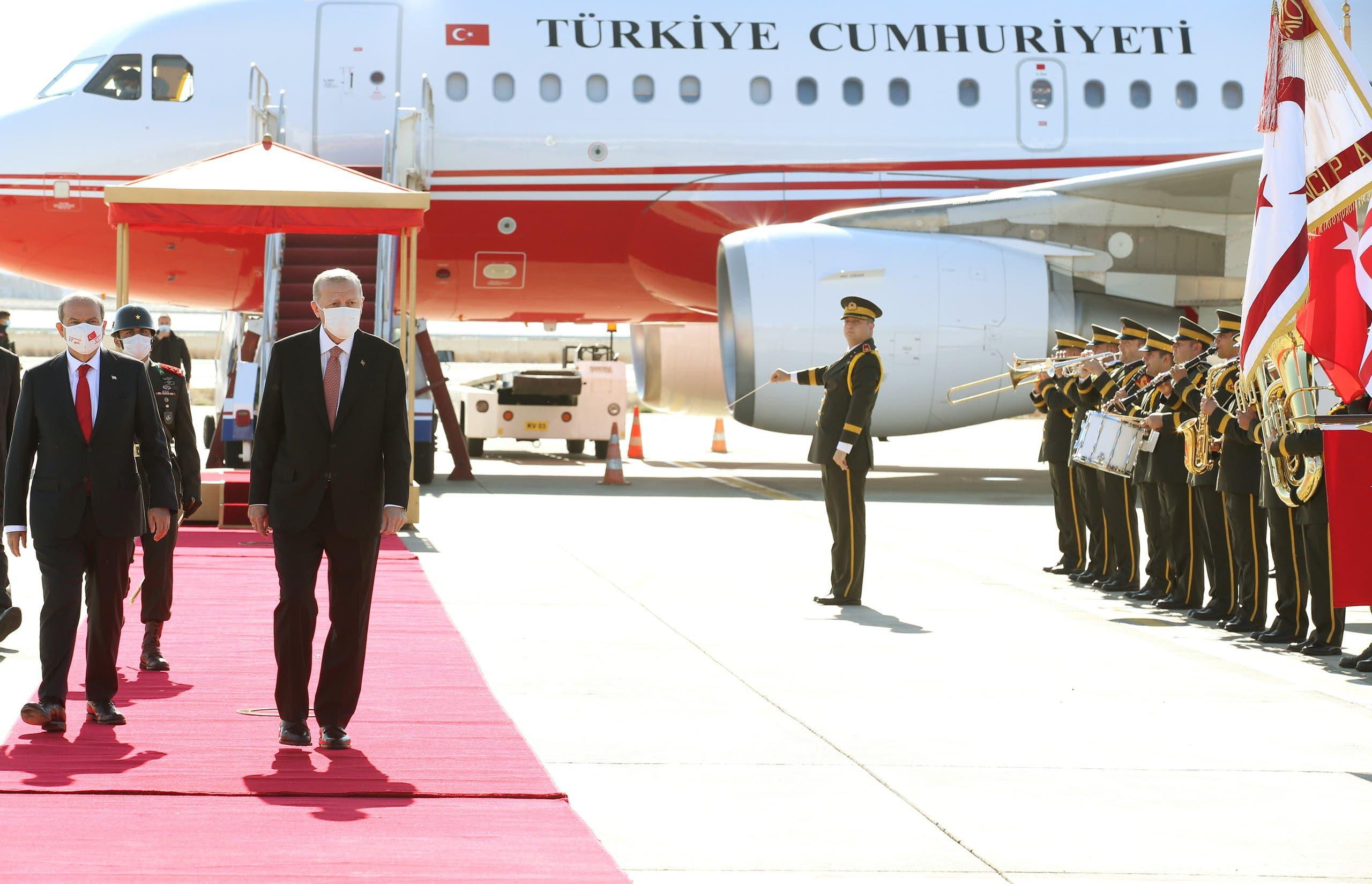 أردوغان يصل إلى شمال قبرص