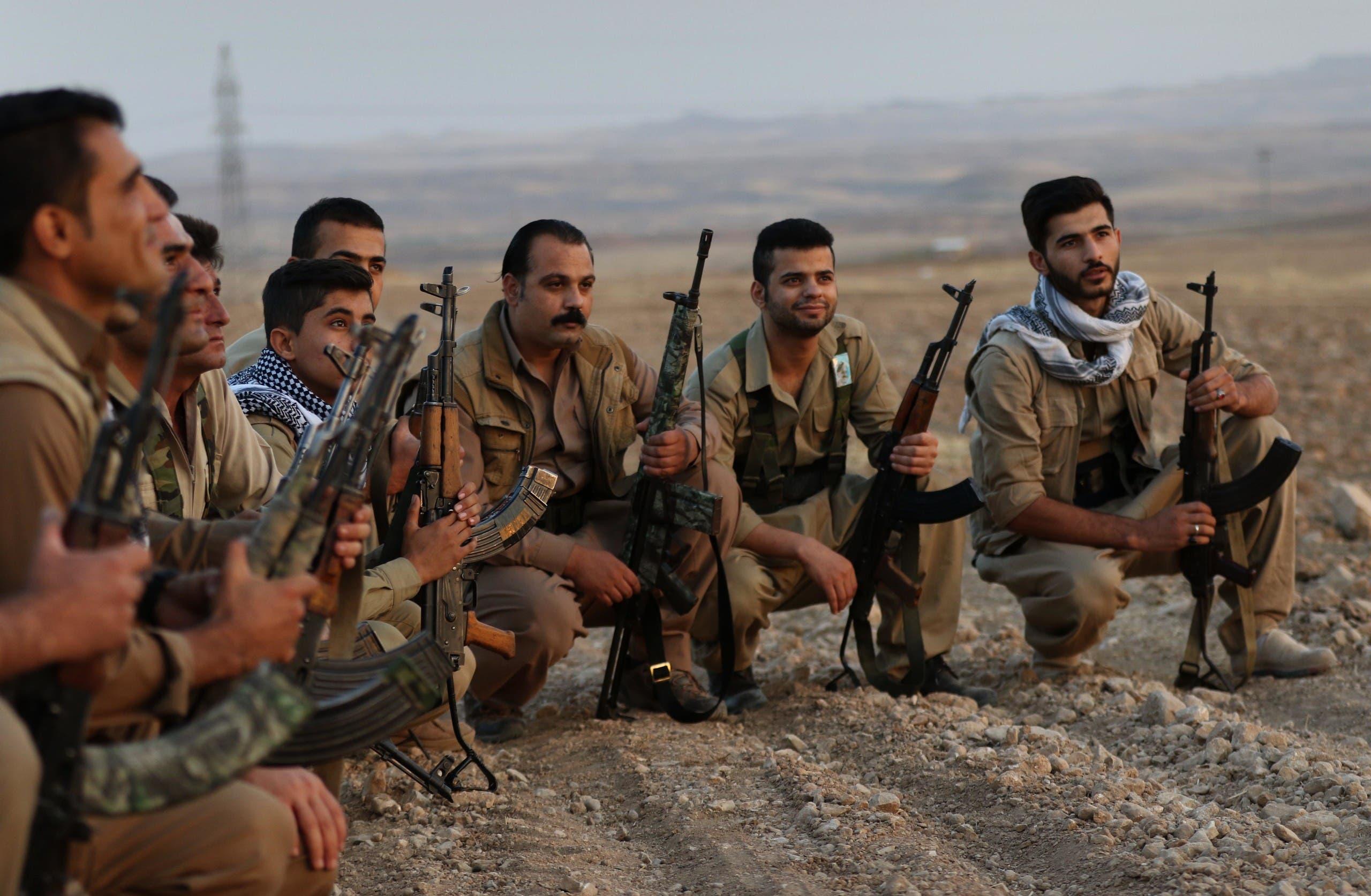 تدريب عسكري في كرستان العراق لعناصر من مجموعة كردية إيرانية معارضة (أرشيفية)