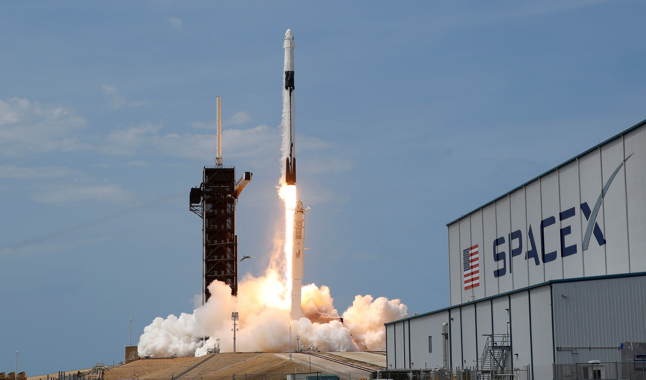 من أول عملية إطلاق مركبة إلى محطة الفضاء التي أجرتها سبايس اكس في مايو الماضي