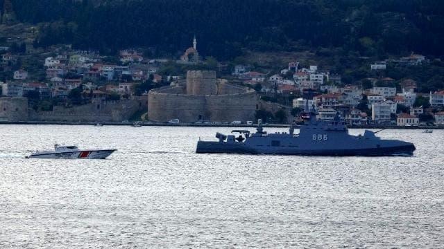 مرور السفن المصرية عبر البسفور التركي