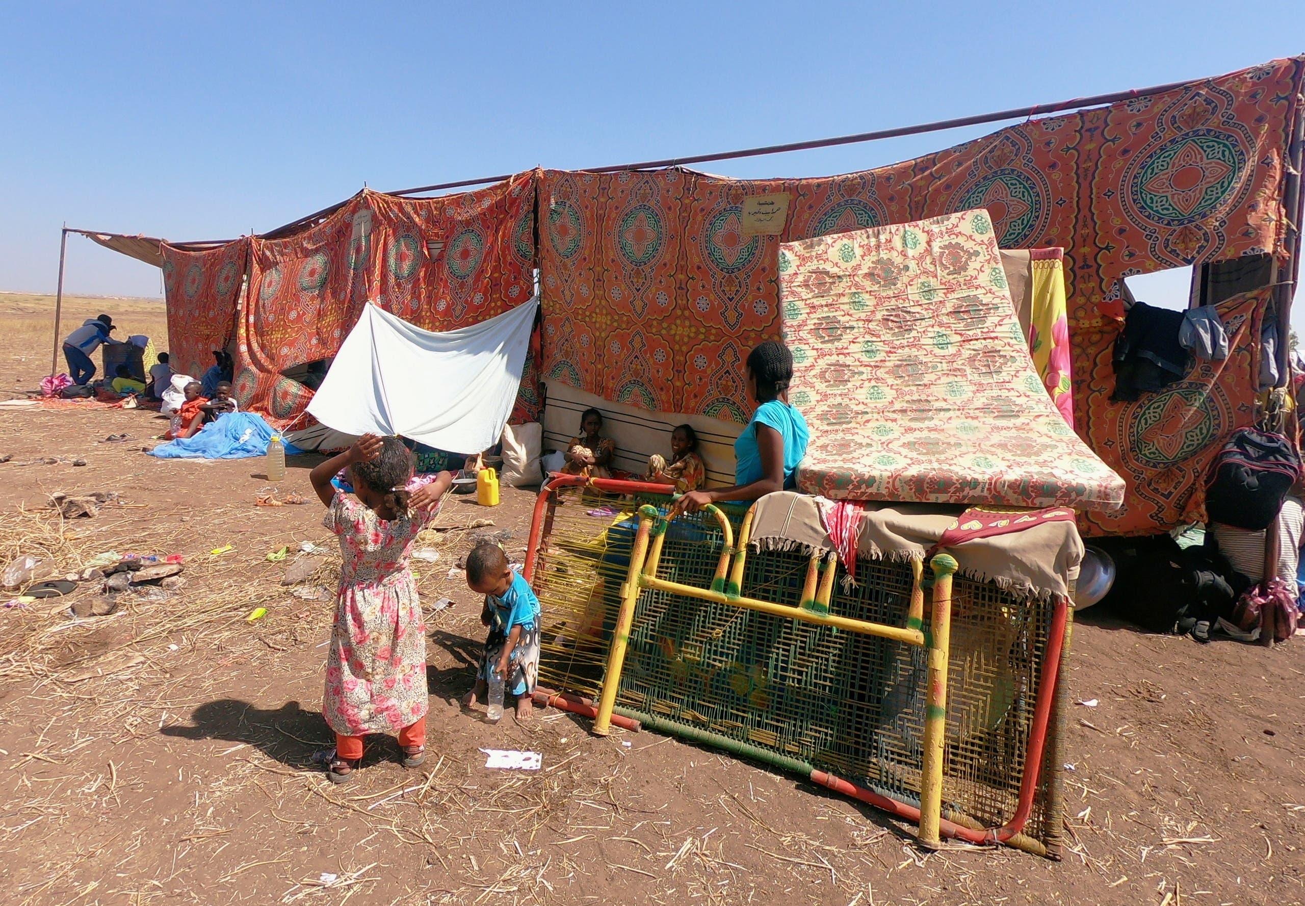 من نازحي إثيوبيا الهاربين من المعارك