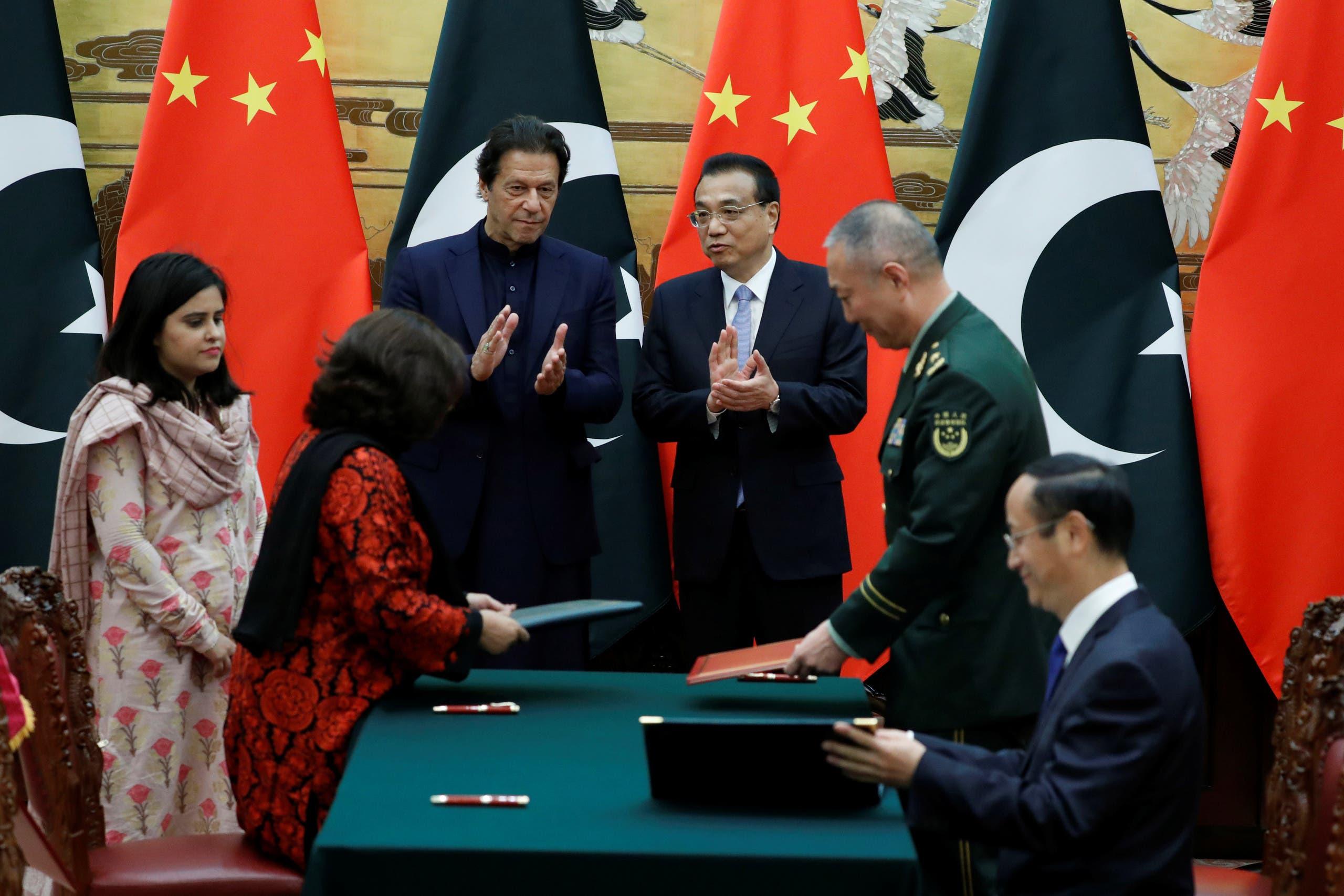 باكستان والصين توقعان اتفاقيات في بكين نهاية أكتوبر الماضي