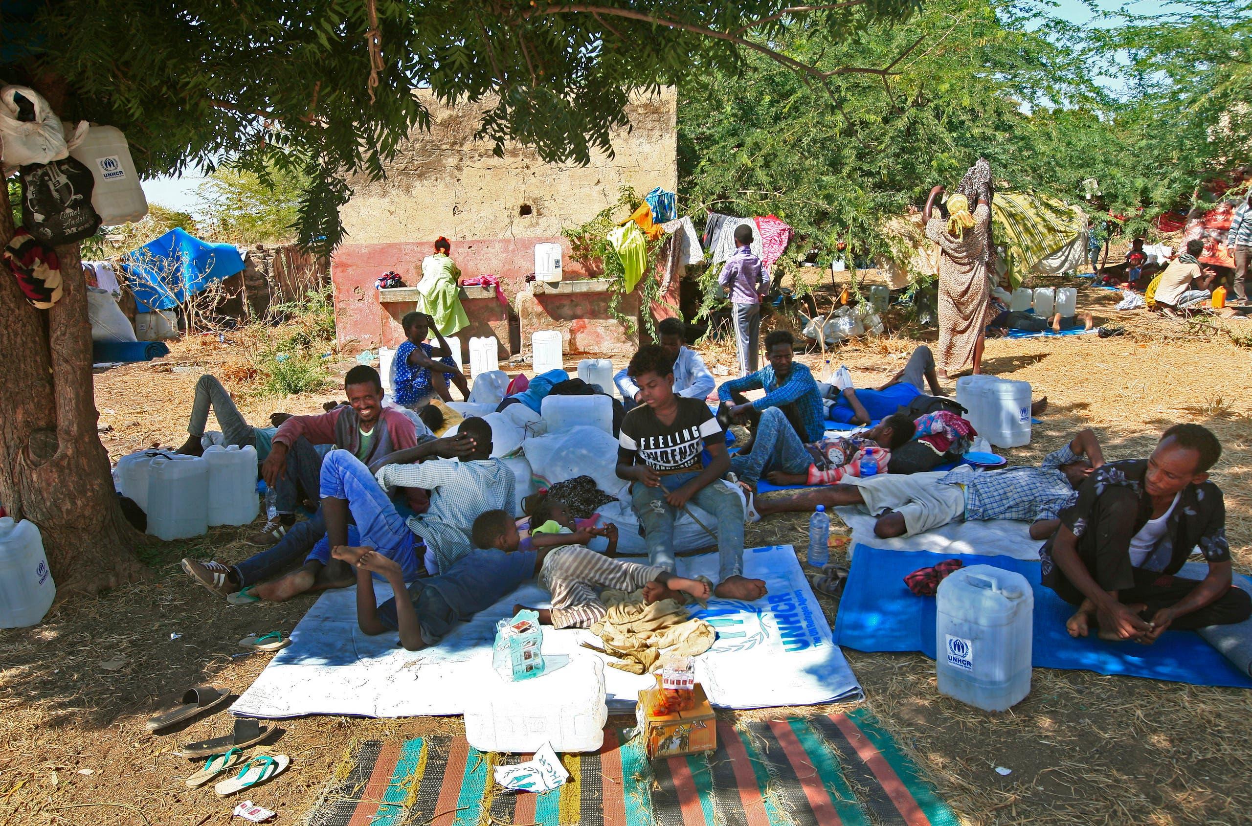 إثيوبيون نزحوا إلى السودان بسبب العمليات العسكرية في تيغراي