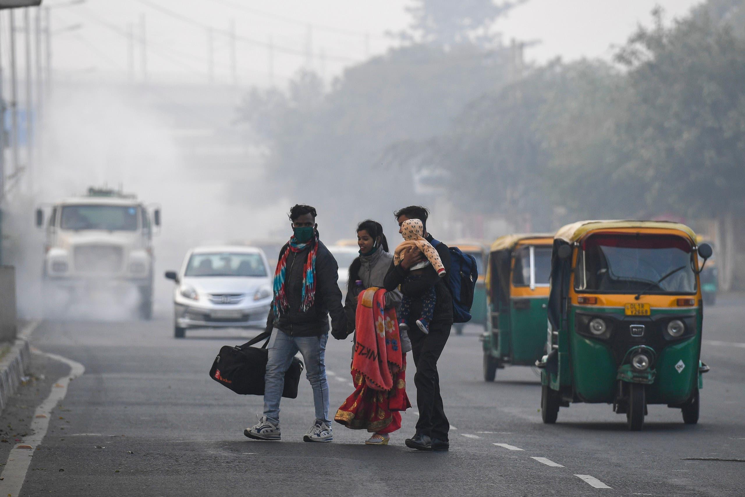 التلوث في نيودلهي