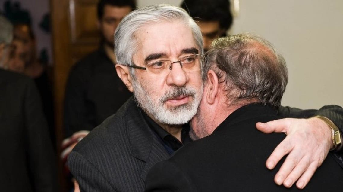 Iranian opposition leader Mir Hossein Mousavi is pictured at his sister's home. (File photo: AFP)