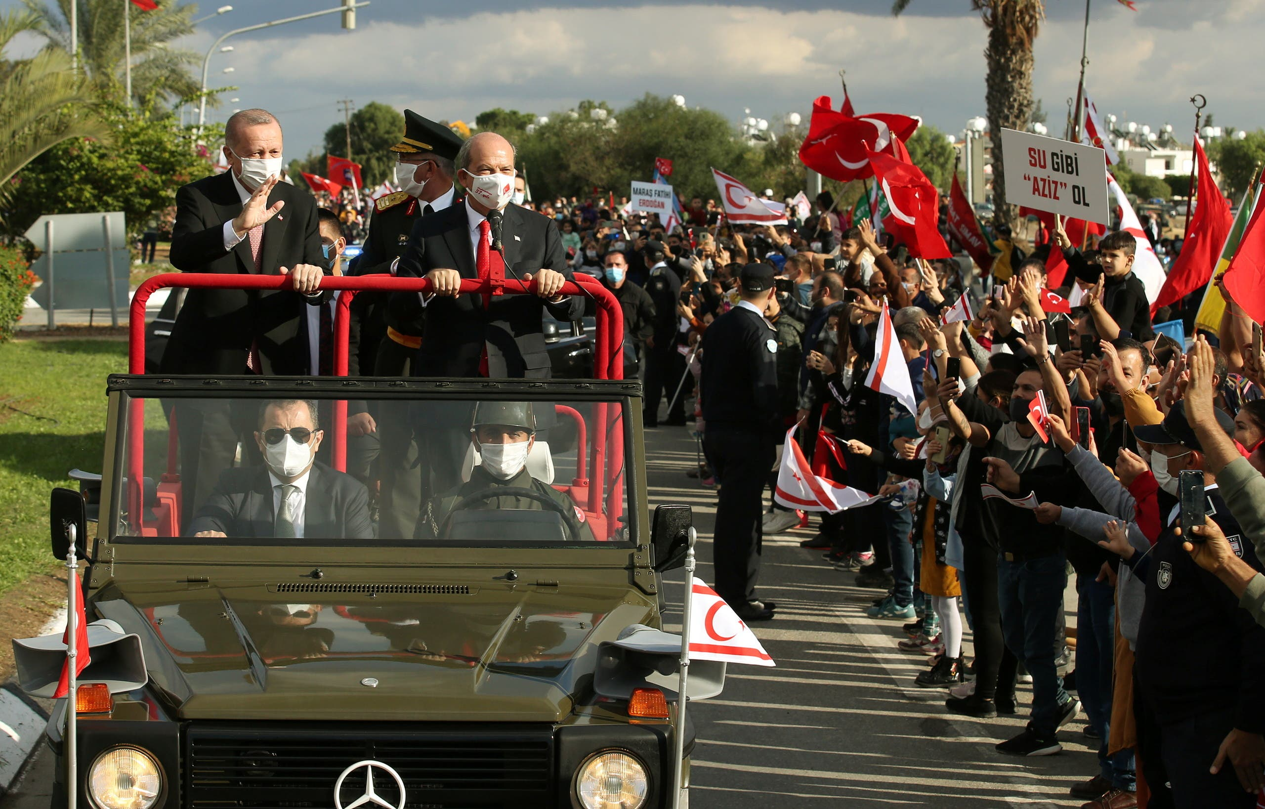 من زيارة أردوغان إلى شمال قبرص