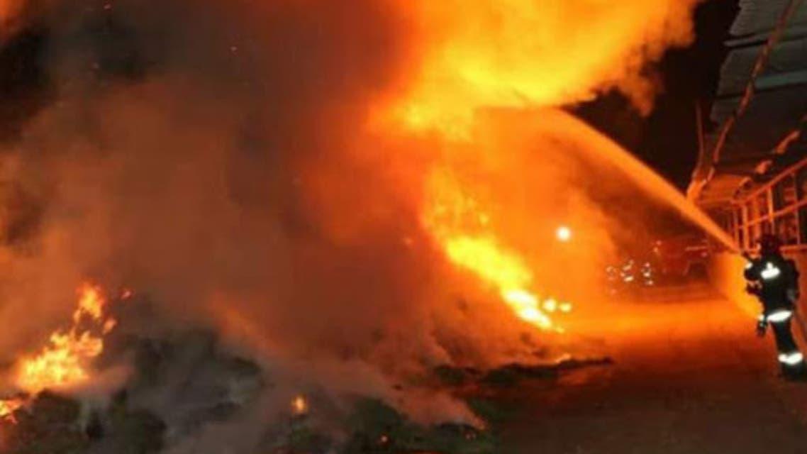 انفجار در یک پمپ بنزین در تهران