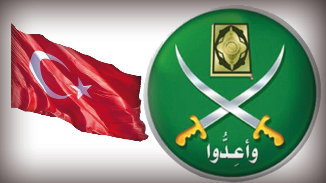 شعار الإخوان وعلم تركيا تعبيرية
