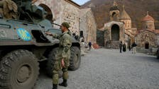 Sandbags and monks in khaki: Russian troops guard Armenian monastery after ceasefire