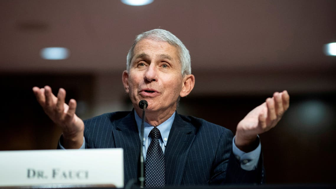 FILE PHOTO: Dr. Anthony Fauci, director of the National Institute of Allergy and Infectious Diseases, speaks during a Senate Health, Education, Labor and Pensions Committee hearing in Washington, D.C., U.S. June 30, 2020. Al Drago/Pool via REUTERS/File Photo