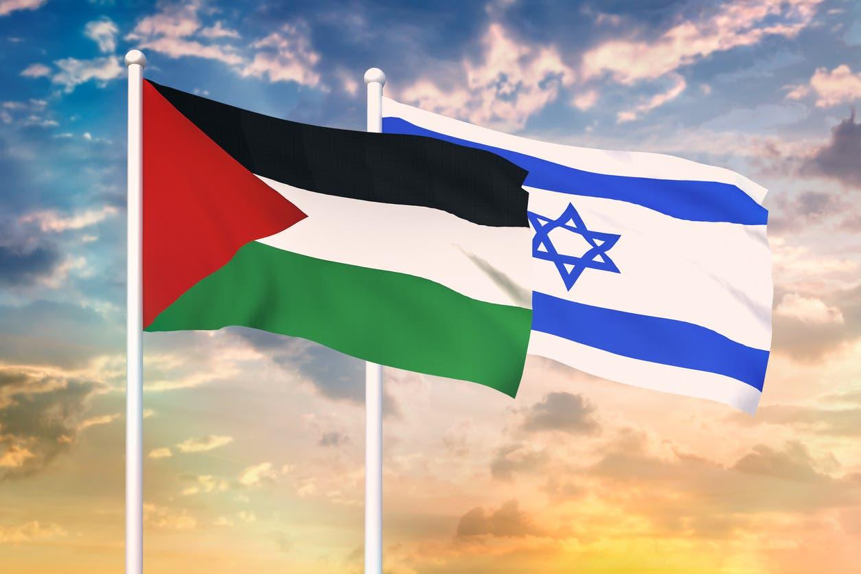 العلم الإسرائيلي والفلسطيني
