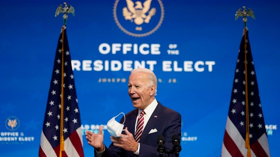 President-elect Joe Biden speaks about economic recovery, Nov. 16, 2020, in Wilmington, Del. (AP)