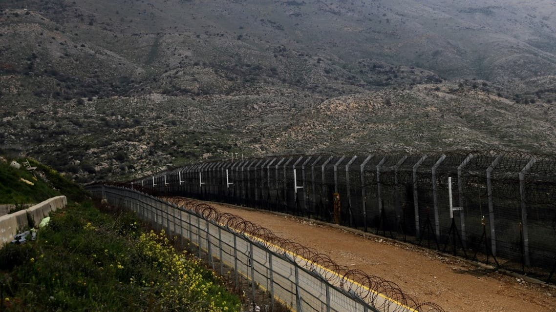 Fences are seen on the ceasefire line between Israel and Syria in the Israeli-occupied Golan Heights. (Reuters)